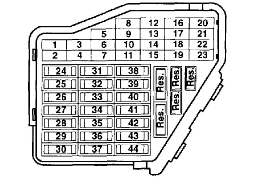 2009 volkswagen jetta fuse box map