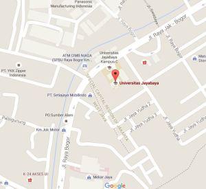 Inilah Maps Letak Kampus Jayabaya