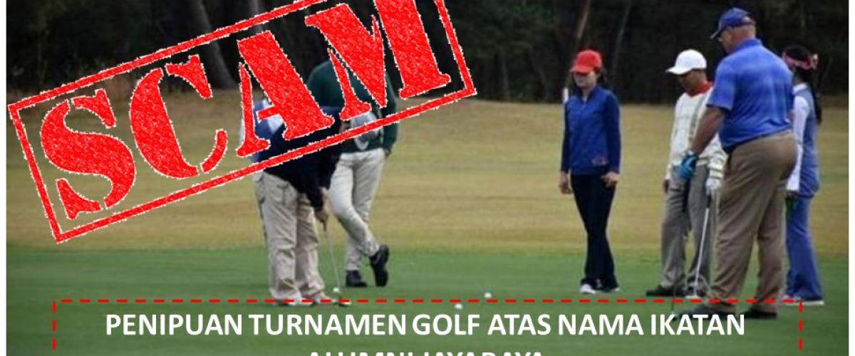 Waspada Penipuan Acara Golf Atas Nama Ikatan Alumni Jayabaya