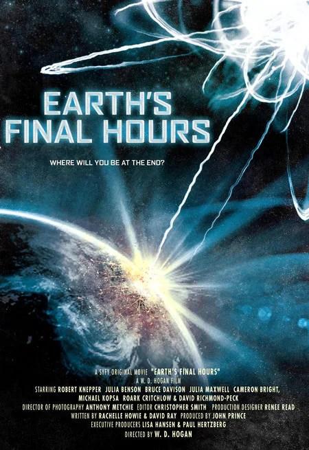 Le ultime ore della Terra: locandina
