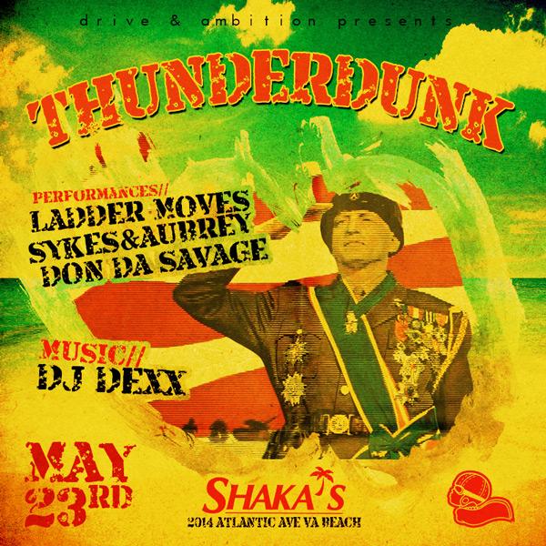 Drive  Ambition ThunderDunk Event Flyer FTWiNN - event flyer