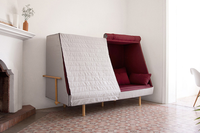 Couch That Turns Into Bed A Sofa That Can Turns Into A Bed And A Cabin – Fubiz Media