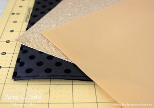 Gold and Black Scrapbook Paper