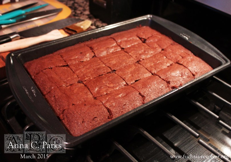 Oscars Party Double Chocolate Mocha Brownies