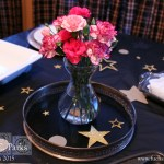 Oscars Party Prep Table and Decorations