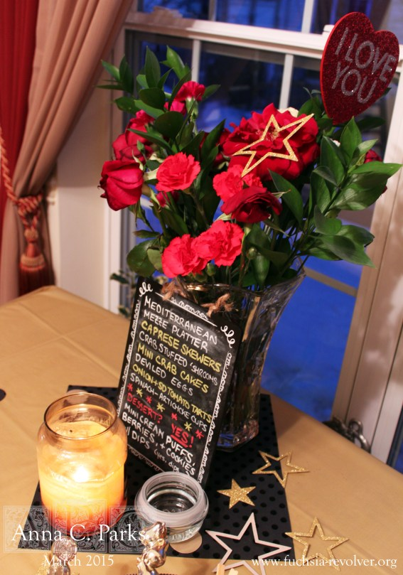 Oscars Party Menu and Table Decorations