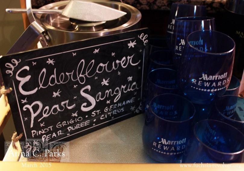 Oscars Party Pear-Elderflower Punch Station