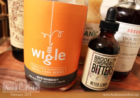 Wigle Rye and Brooklyn Bitters