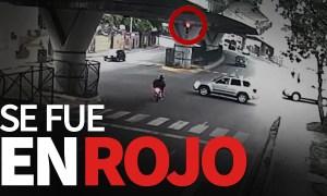 VIDEO: Cuando no le haces caso a la luz roja