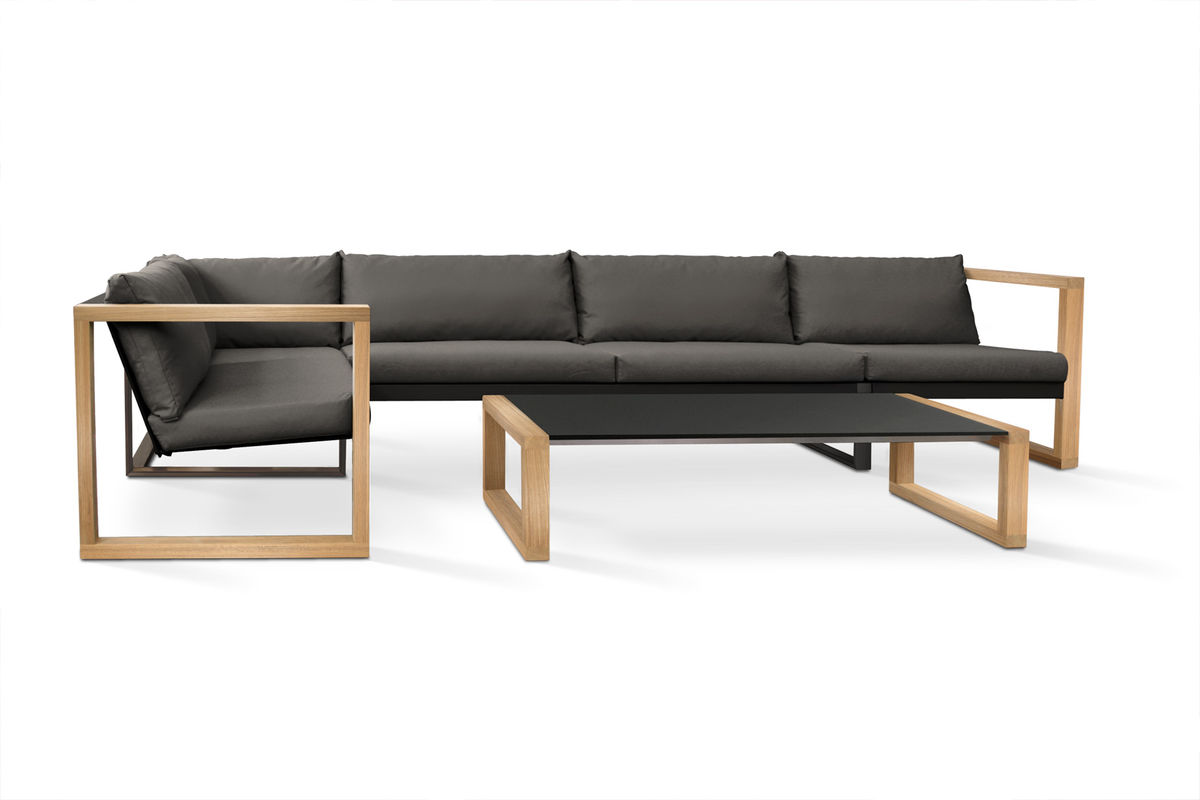 Designer Sofa Holz Banca Lounge Teak Cima Lounge Collection Fueradentro