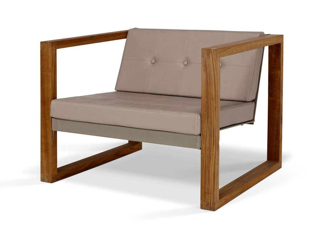 Poltrona Lounge Teak Cima Lounge Collection Fueradentro Outdoor Design Furniture