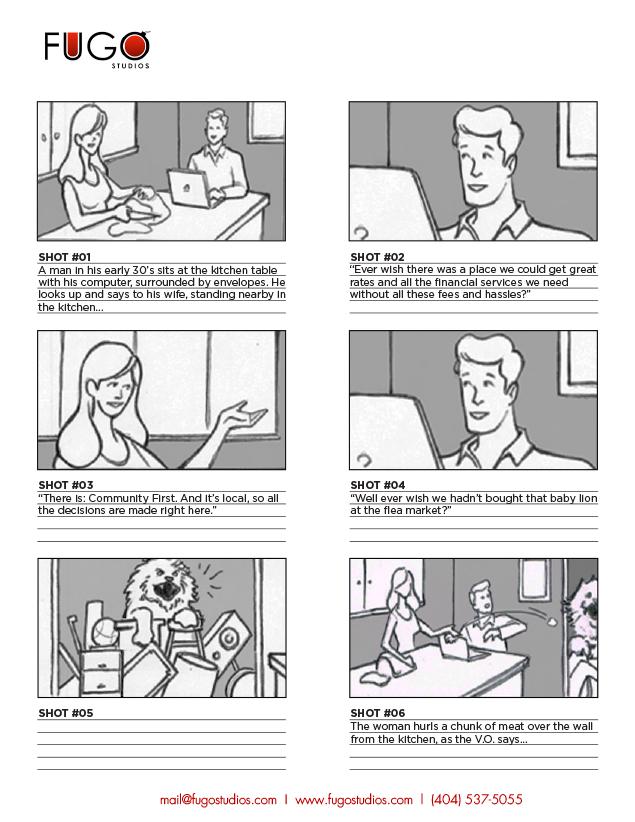 FUGO Studios Storyboarding Service I Atlanta - commercial storyboards