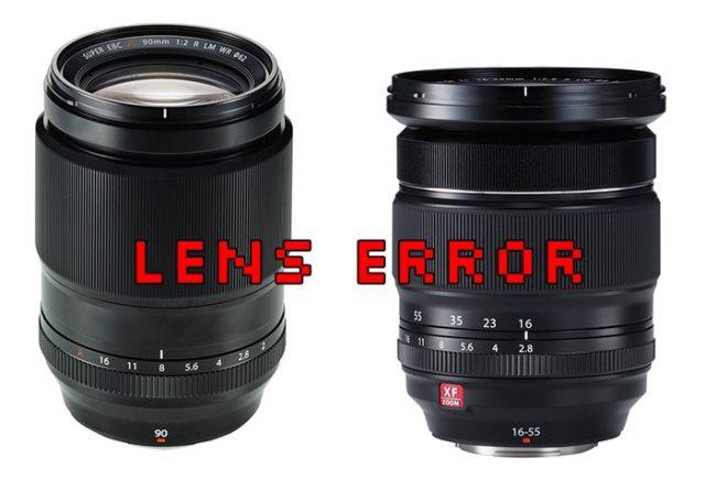 XF 90mm y XF 16-55mm error de firmware.
