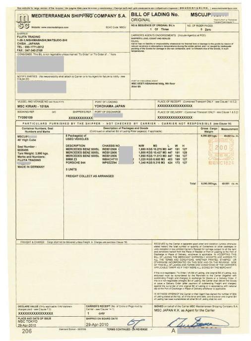 Tracking Msc Bill Of Lading Wroc Awski Informator
