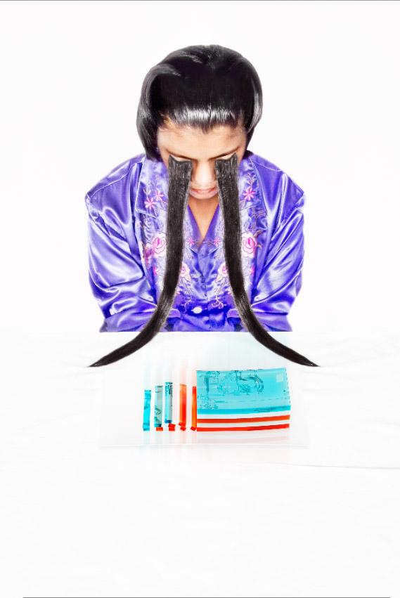 メヘリーン・ムルターザ《フーバ・フーバ(未来派風に食べるシリーズ)》Mehreen Murtaza Fuva Fuva (Tastes like Futurism) 2011年