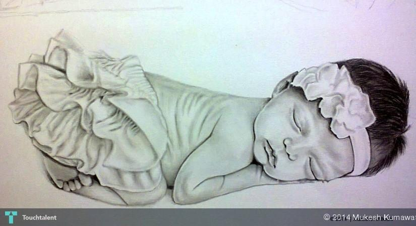 Cute Baby Girl ) Touchtalent - For Everything Creative