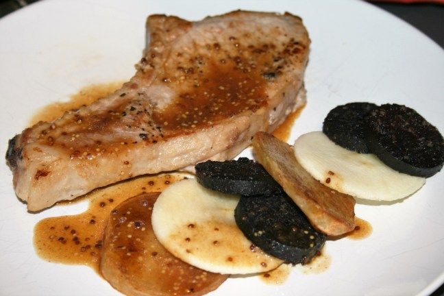 how to make pork chops and pudding