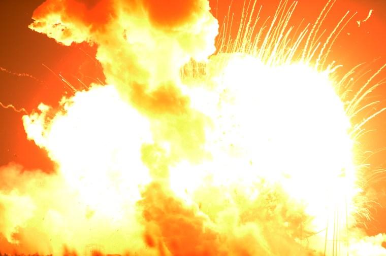 Orbital's Antares rocket exploded shortly after takeoff at Wallops Flight Facility on Tuesday, Oct. 28, 2014. (Jay Diem Eastern Shore News)