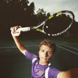 "Menchville tennis player Matthew Strehle is the Daily Press all-star for 2015. The photo was processed in Instagram using the ""Reyes"" filter."