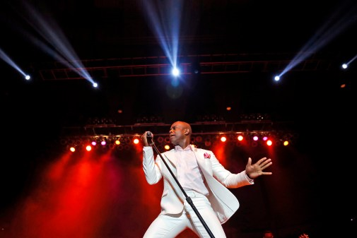 KEM, Kim Owens, performs during the 48th annual Hampton Jazz Festival Saturday evening at the Hampton Coliseum.