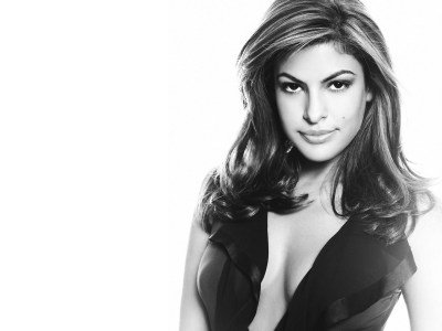 Black and White Eva Mendes Wallpaper | Full HD Pictures