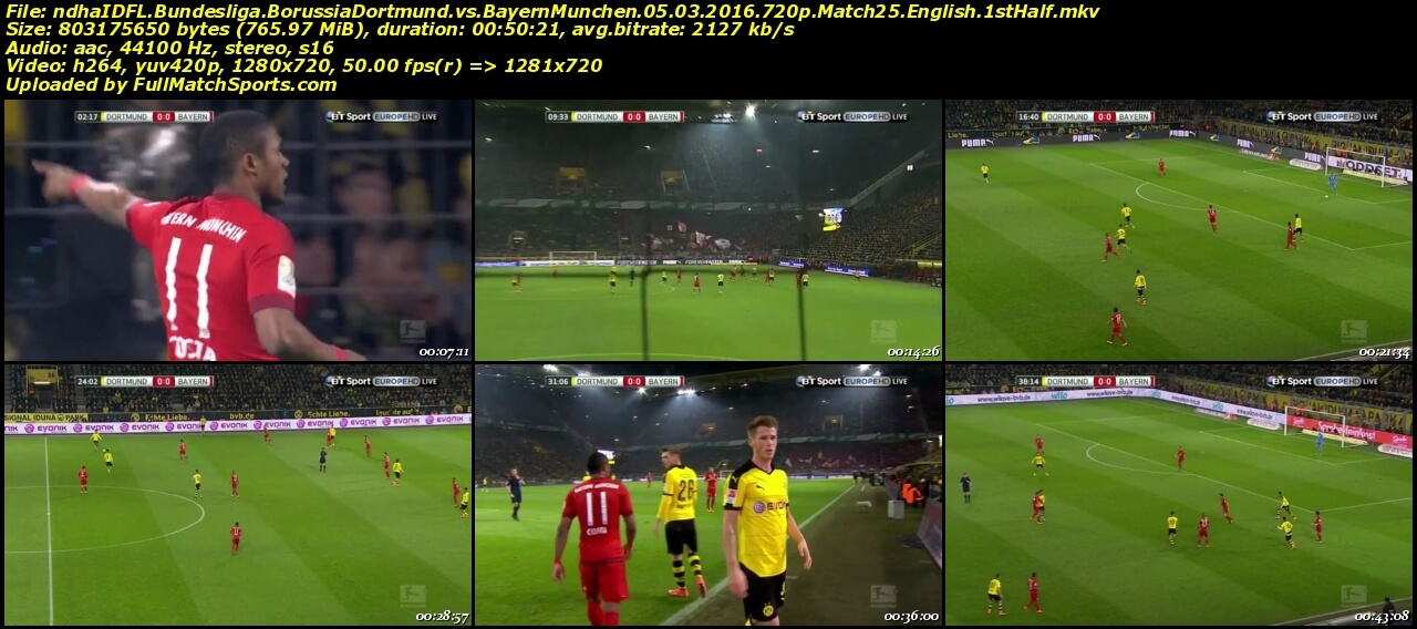 dortmund vs bayern full match