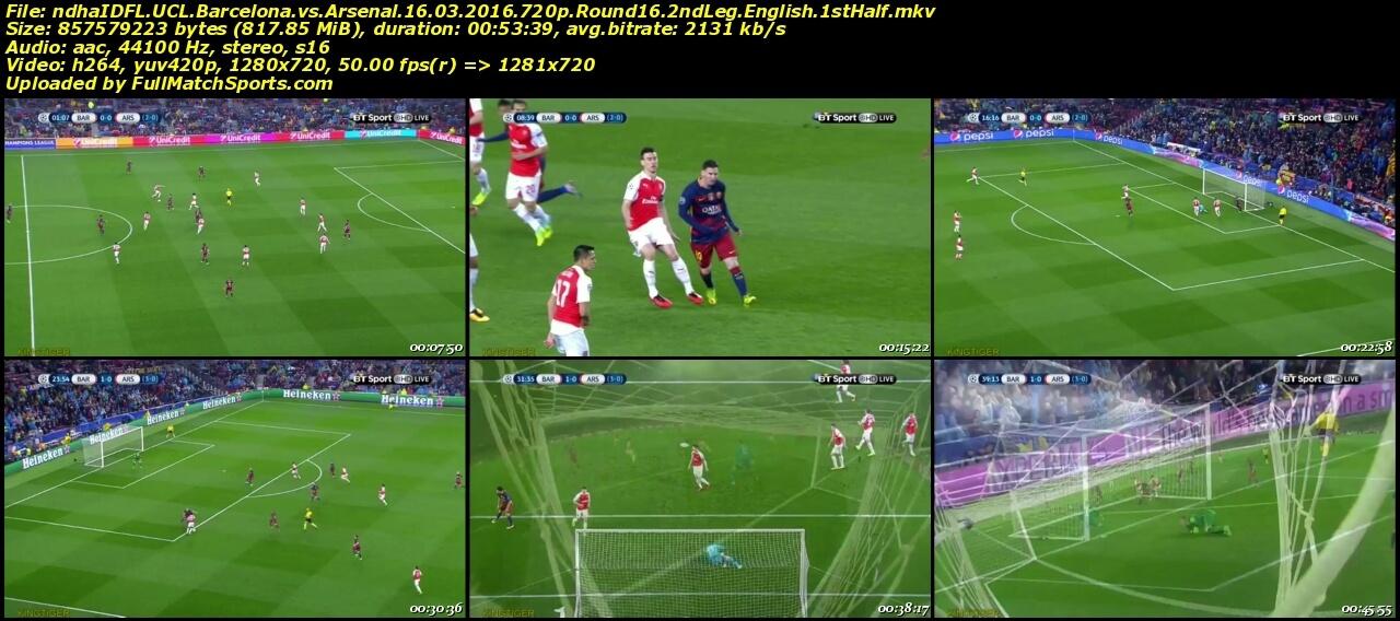 barcelona vs arsenal full match