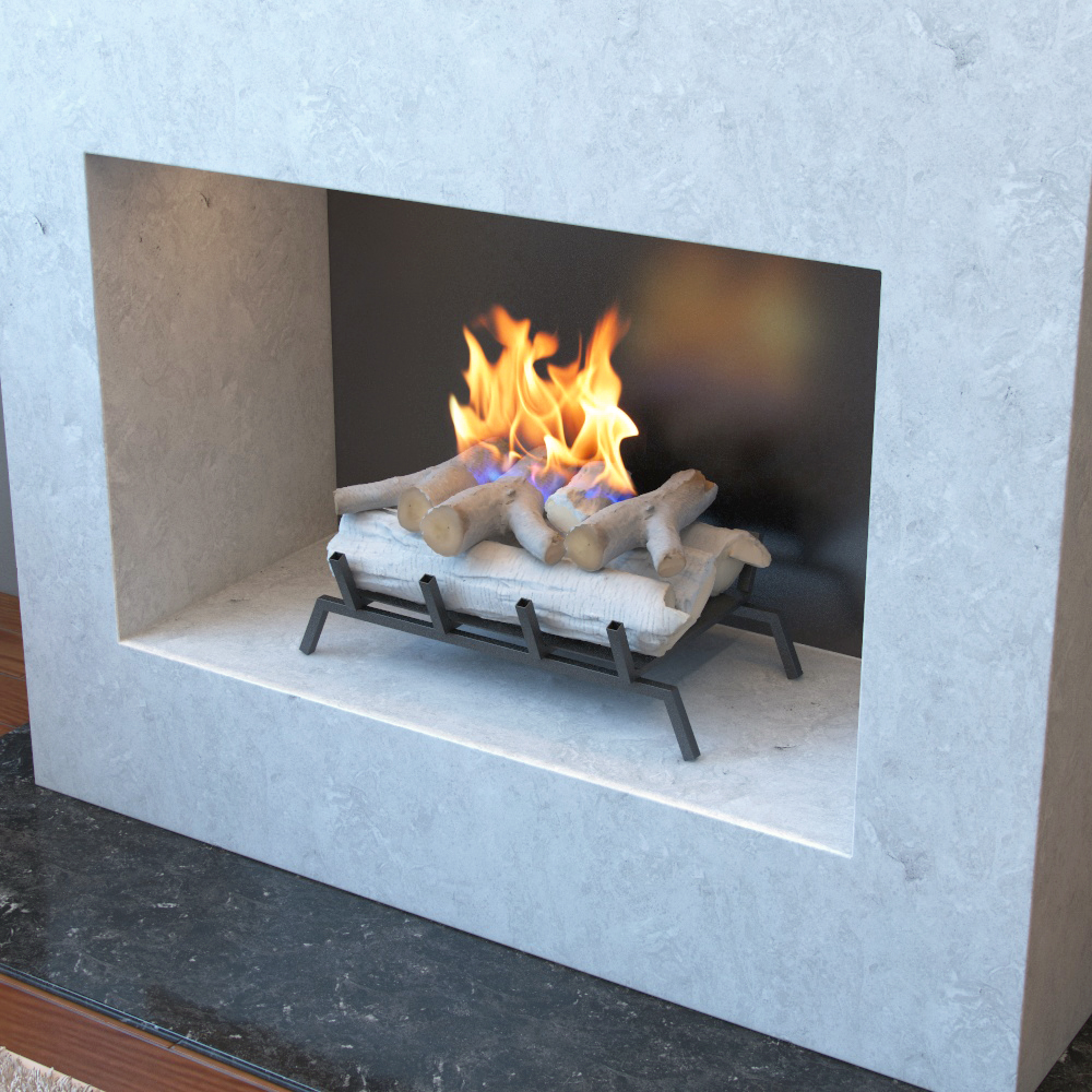 Convert Fireplace To Gas Burning 18 Inch Birch Convert To Ethanol Fireplace Log Set With Burner Insert From Gel Or Gas Logs