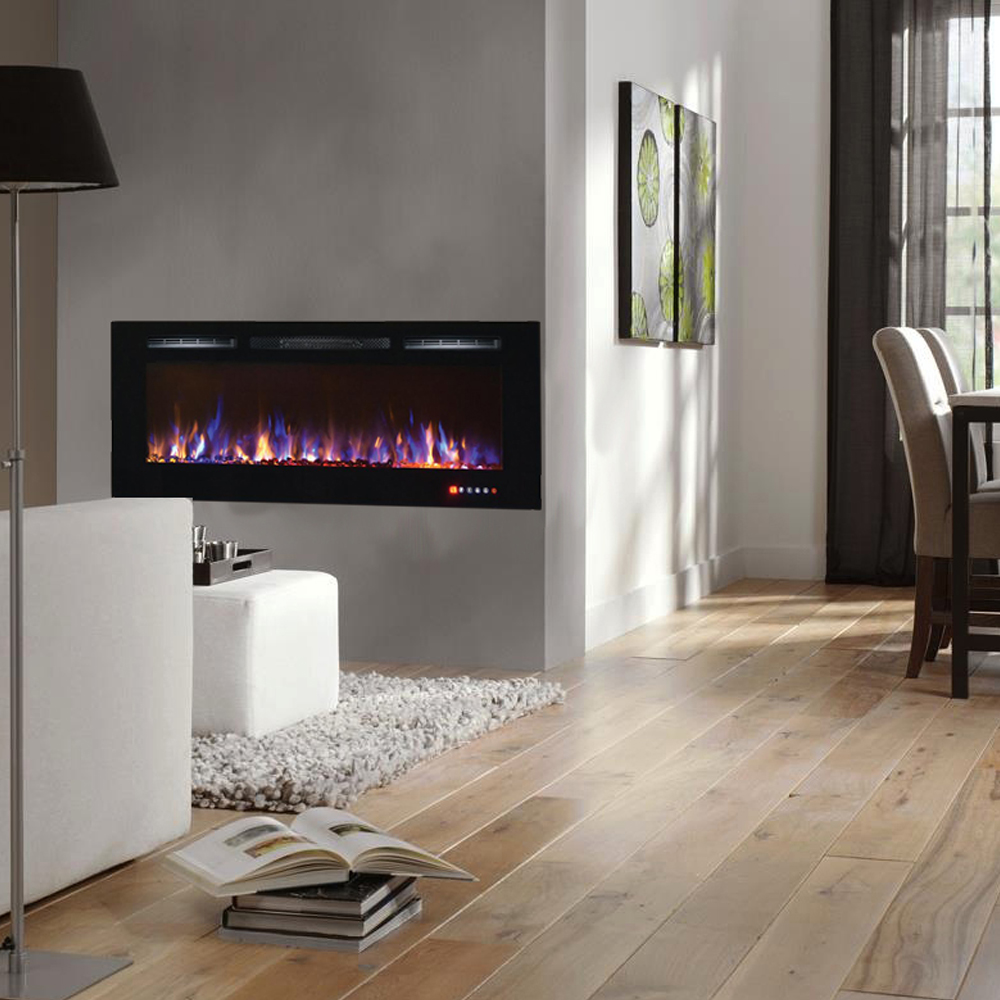 Electric Fireplace Built Into Wall Regal Flame Fusion 50 Inch Built In Ventless Heater Recessed Wall Mounted Electric Fireplace Multi Color