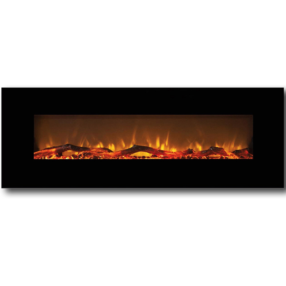Wall Mount Fireplace Heaters Regal Flame Erie 72 Inch Black Ventless Heater Electric Wall Mounted Fireplace Log