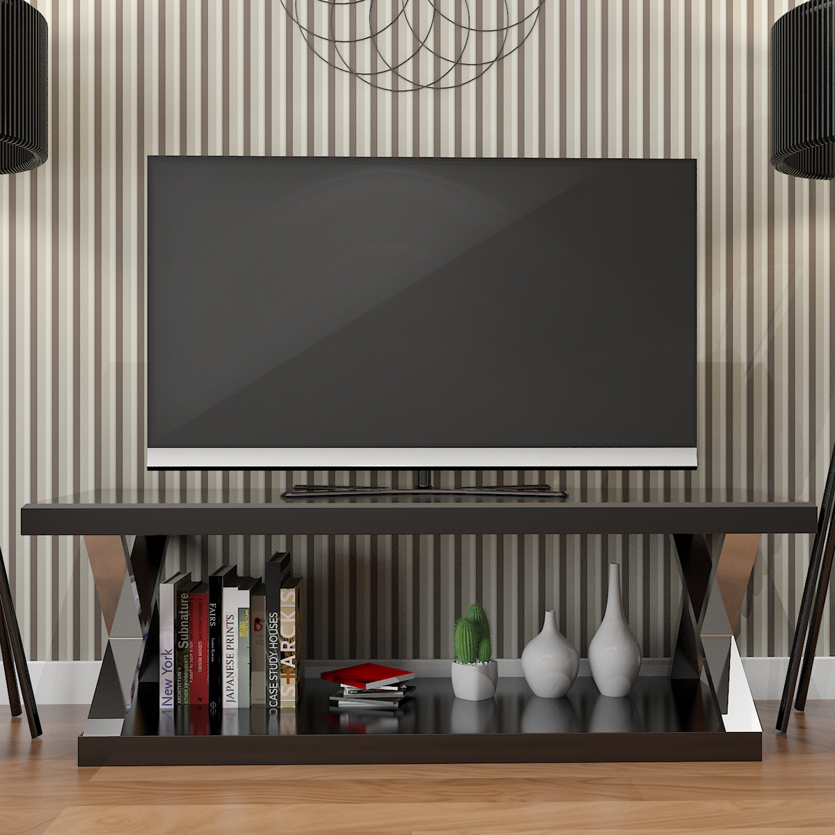 Modern Tv Ryan Rove Hayden Double V Design 60 Inch Modern Tv Stand