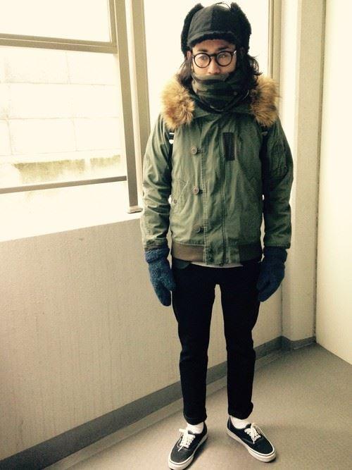 スヌードメンズ秋冬コーディネート画像3