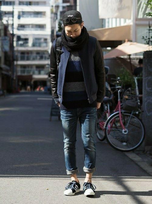 スヌードメンズ秋冬コーディネート画像11
