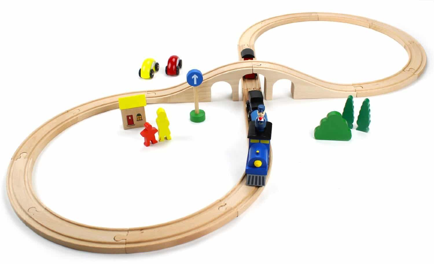 Wooden Train Tracks Classic Building Toys For Kids That Last