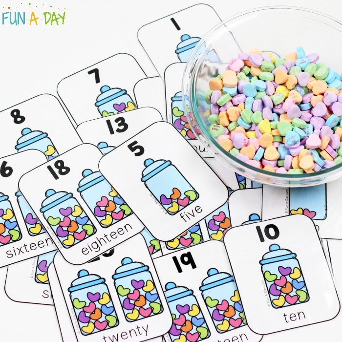 How to Use Printable Number Cards for Valentine\u0027s Day Math