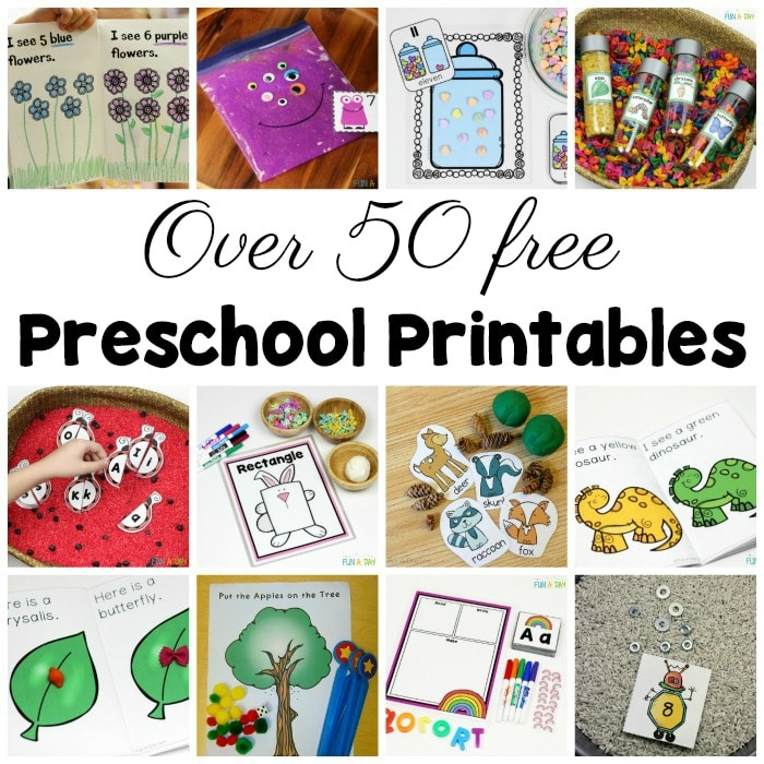 50+ Free Preschool Printables for Early Childhood Classrooms