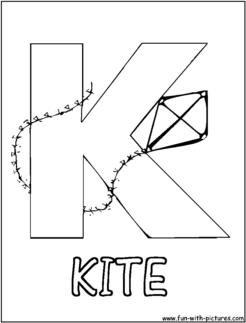 Free printable kite coloring pages - Coloring Sheet K Kite Coloring Page Printable Kites Cartoons
