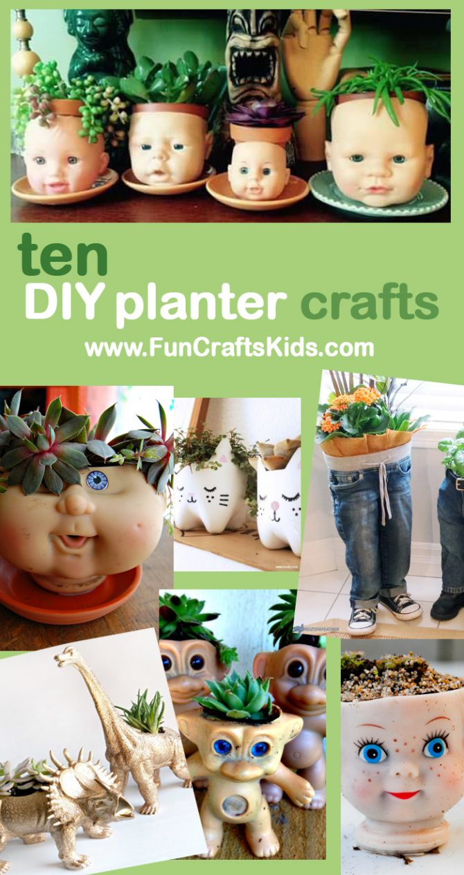 Head Planters 10 Of The Best Ideas Indoor Garden Upcycled Planter Pots For Earth Day