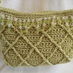 Diamonds and Beads - Celery Green Purse w/ long shoulder strap $40.00