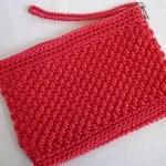 Hot Pink Wicker Weave Clutch w/ strap $15.00