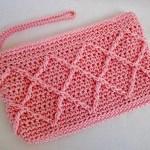 Pink Raised Diamonds Clutch w/ strap $15.00