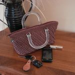 English Rose Purse with zipper closure and clear handles $35.00