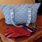 Country Blue Rippled Shells Purse $65.00