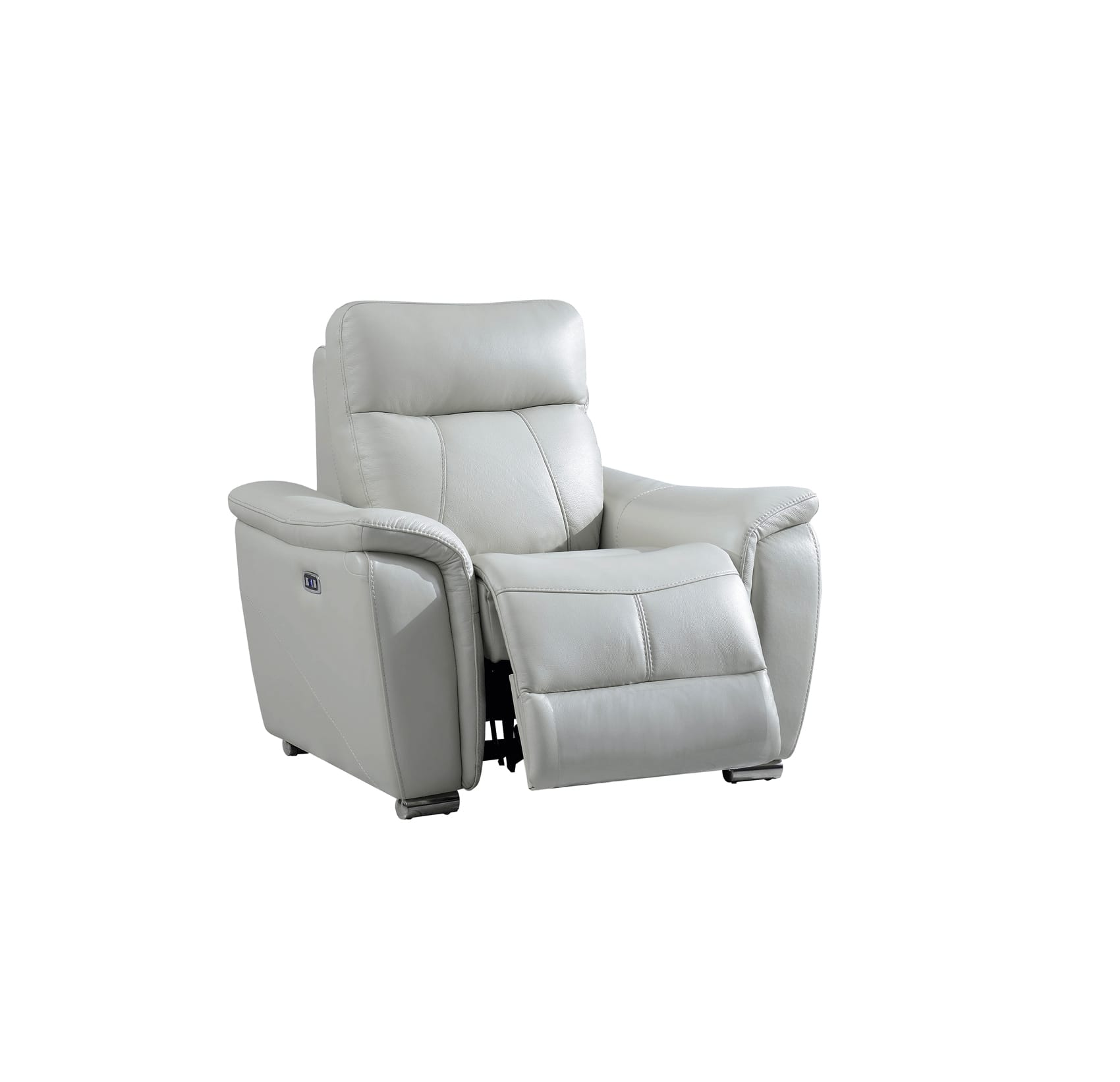 Electric Recliner Leather Chairs 1705 Gray Leather Chair W Electric Recliner By Esf