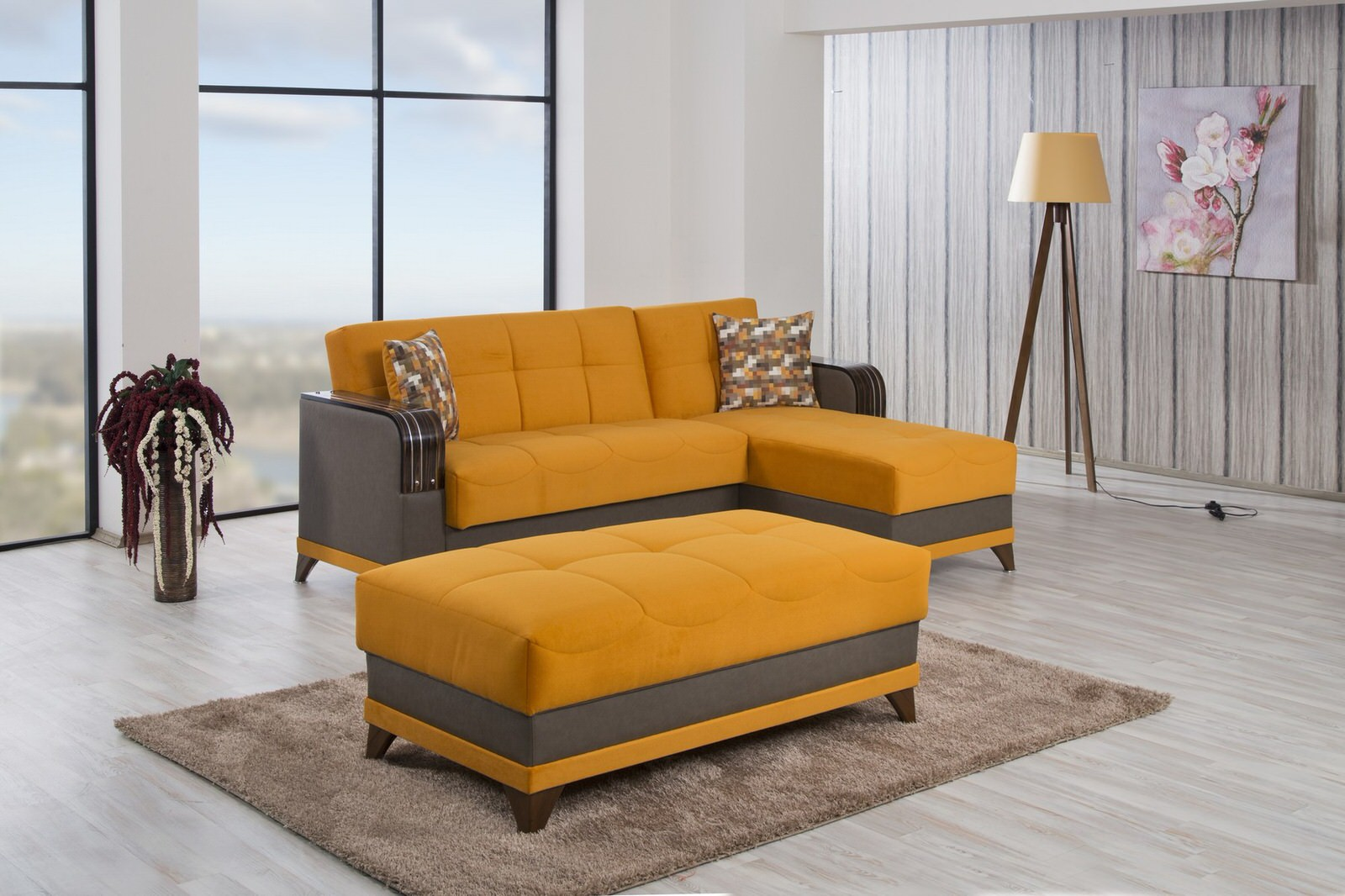 Sofa Orange Almira Riva Orange Sectional Sofa By Casamode