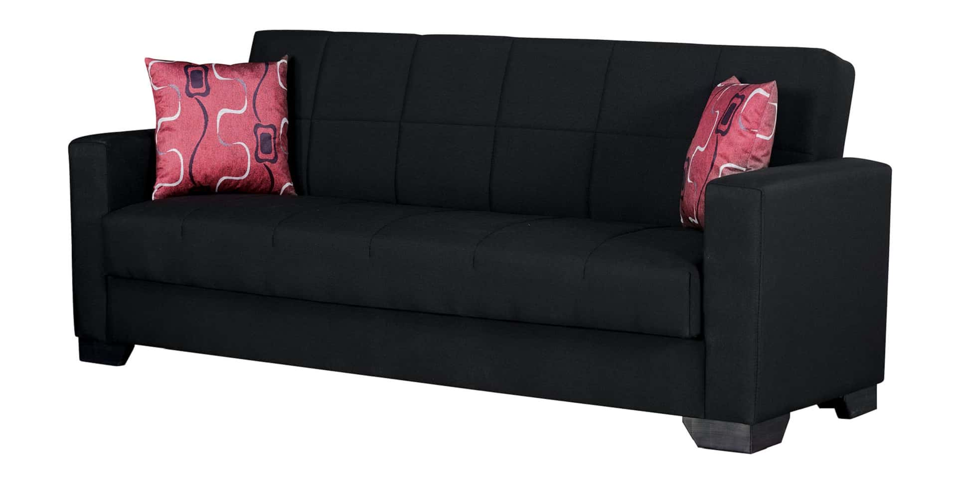 Vermont Black Fabric Sofa Bed By Empire Furniture Usa