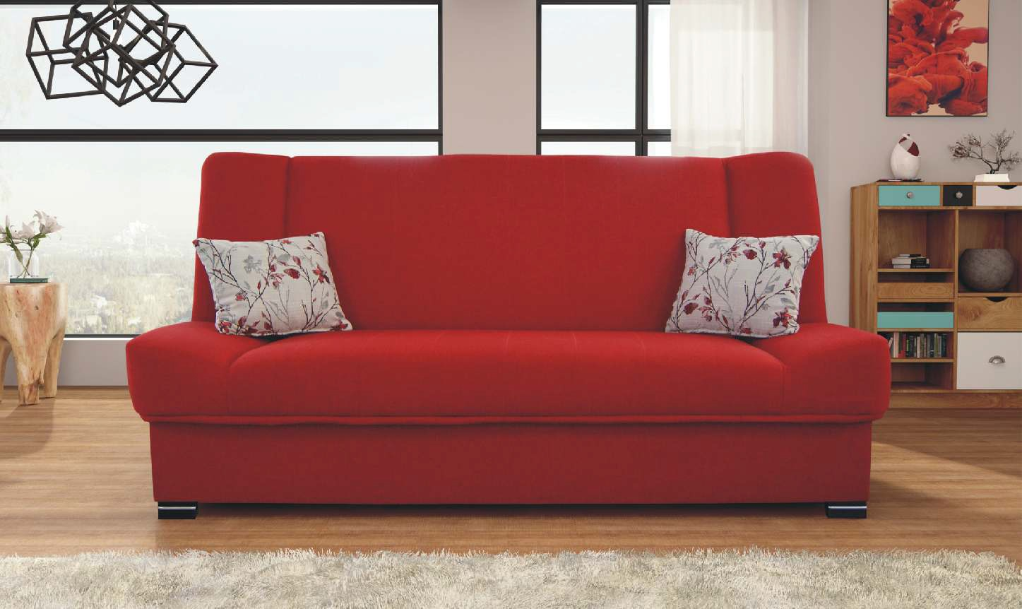 Red Furniture Ideas Natalia Red Sofa Sleeper By Skyler Designs
