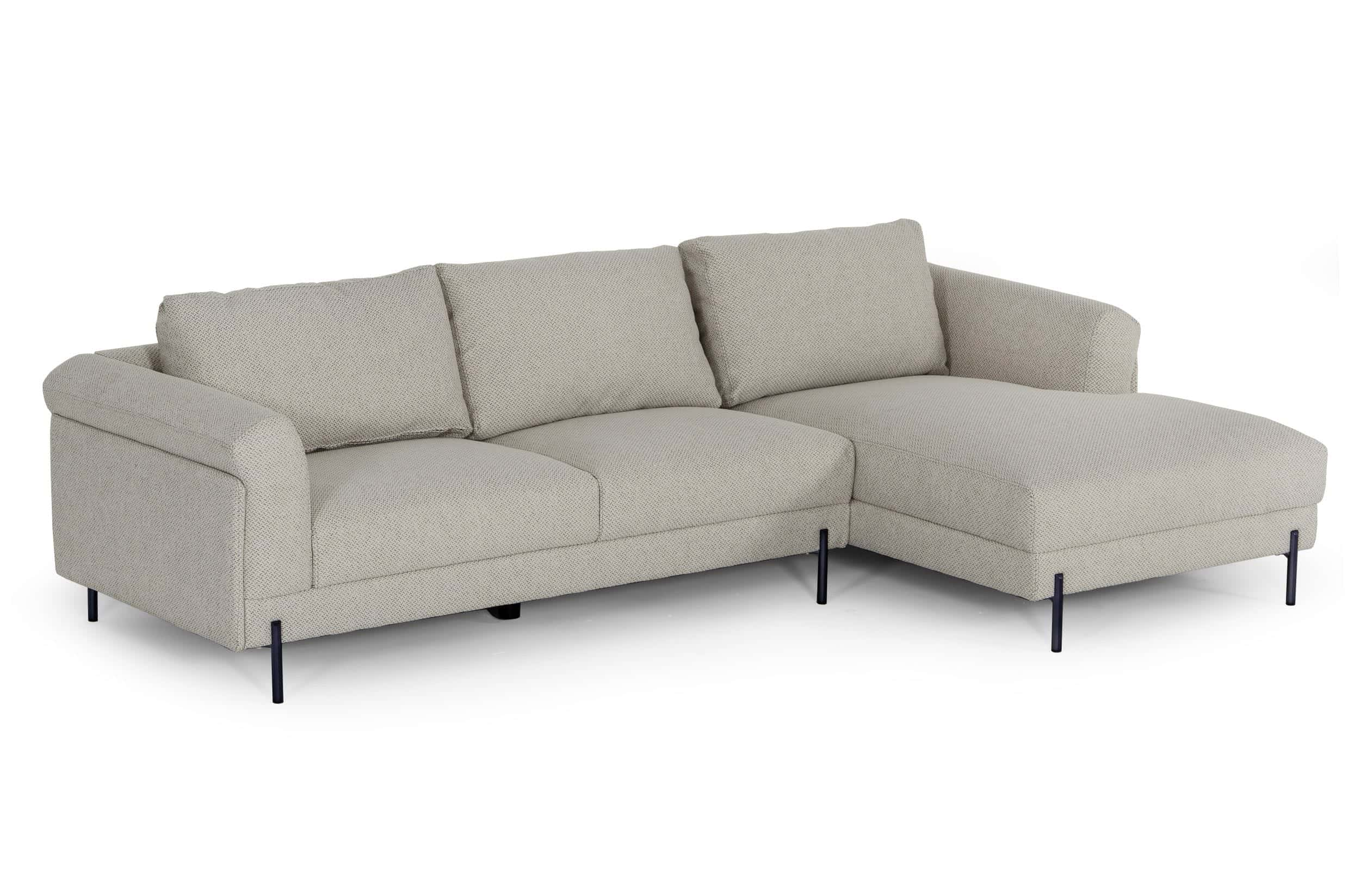 Divani Casa Hello Modern Sectional Sofa W Right Facing Chaise By Vig Furniture