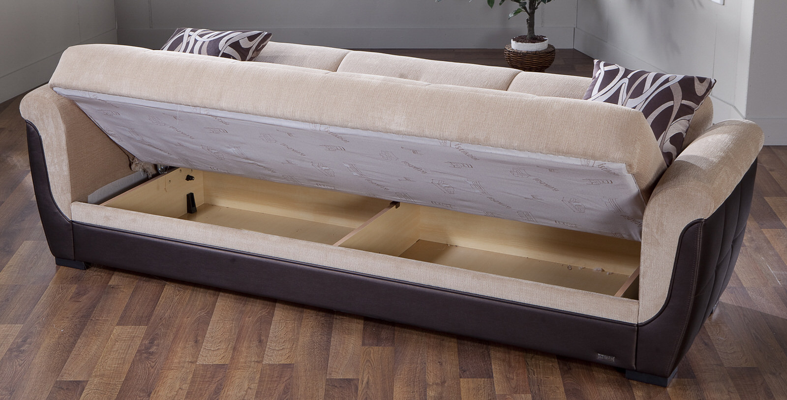 Polo Rubi Light Brown Convertible Sofa Bed By Istikbal Furniture