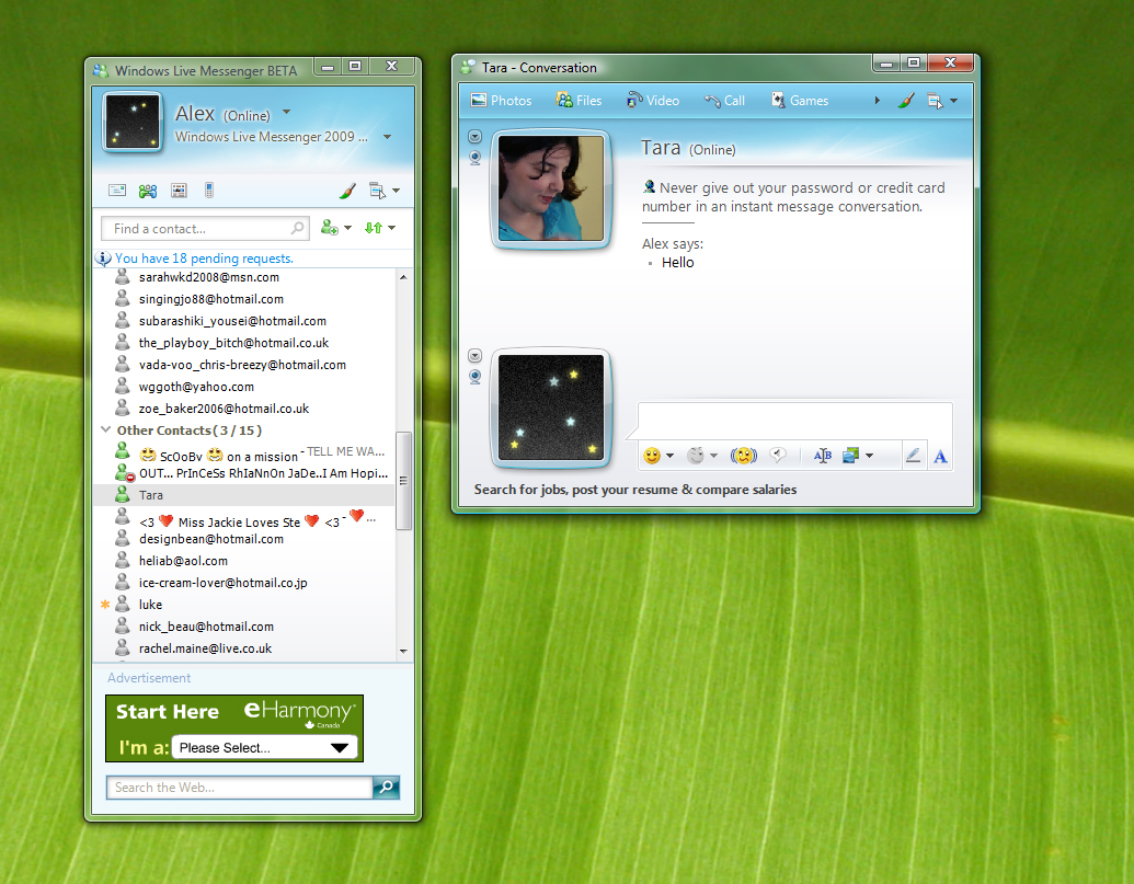 Window Live Messenger Windows Live Messenger Function Found